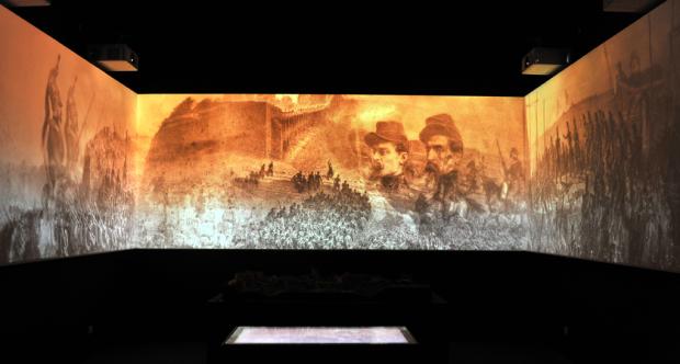 Sala dell'assedio presso il Museo della Repubblica Romana