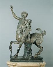 Statua di Centauro giovane firmata da Aristeas e Papias, Scultura, Età adrianea (117-138 d.C.), Marmo bigio morato, cm 136