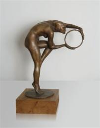 Ercole Drei, Danzatrice con il cerchio, 1913, bronzo