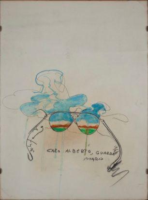 Mario Schifano, Caro Alberto, guarda Mario, 1966
