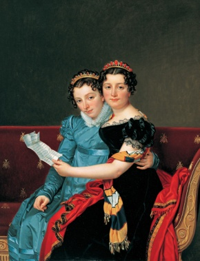 Jacques-Louis David, Zenaide e Carlotta Bonaparte, 1821