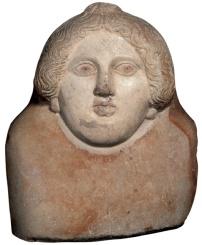 Coperchio di sarcofago a forma umana