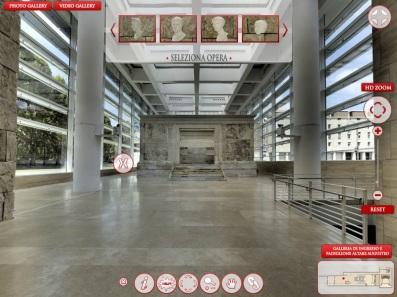 Tour virtuale del Museo dell'Ara Pacis