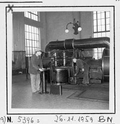 Operai al lavoro nella Sala Caldaie (1960 circa)