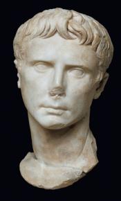 Ritratto di Augusto, fine del I secolo a.C.
