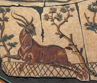 Mosaico con scene di caccia Mosaico, inizio IV secolo d.C.