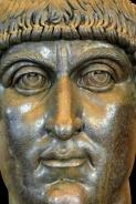 Statua colossale bronzea di Costantino: testa, Scultura, IV secolo d.C., Bronzo, cm 177