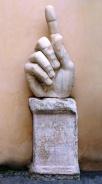 Statua colossale di Costantino: mano destra, Scultura, 313-324 d.C.