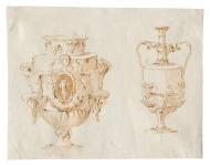 Giambattista Tiepolo Vasi penna e inchiostro bruno, inchiostro diluito bruno, su traccia di grafite, mm 189x240 Trieste, Civico Museo Sartorio, inv. 1913