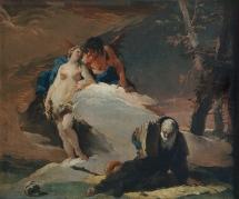 Giambattista Tiepolo Tentazione di Sant'Antonio olio su tela, cm 40x47 Milano, Pinacoteca di Brera, inv. REG. CRON 5969