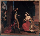 Cleopatra ed Ottaviano, Guercino, Olio su tela, 1630-1649 ca., Musei Capitolini