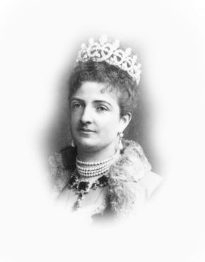 Henri Le Lieure de L'Aubepin (1831-1914) Ritratto della regina Margherita di Savoia Fotografia 1895 c. gelatina bromuro d'argento mm 130x180