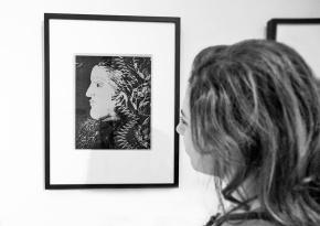 Pablo Picasso, Ritratto di Dora Maar, di profilo, terzo stato, Parigi, 1936-1937