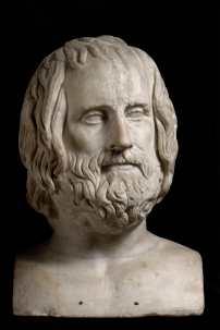 Erma di Euripide, da un originale greco del IV secolo a.C.