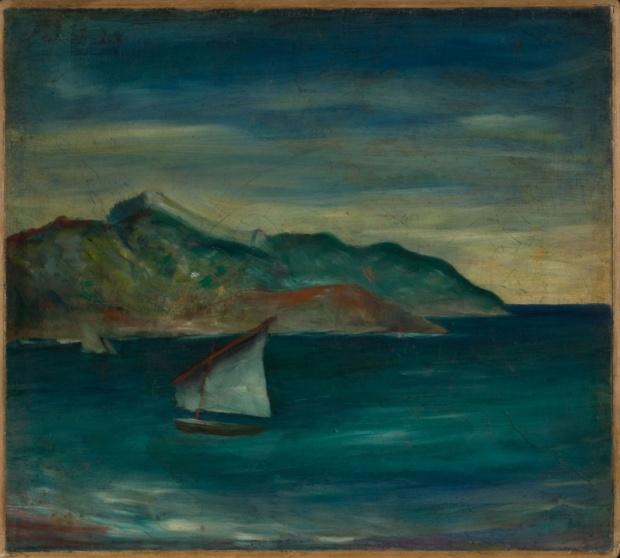 Carlo Carrà, Marina a Moneglia, 1921