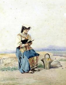 Ciociara che legge