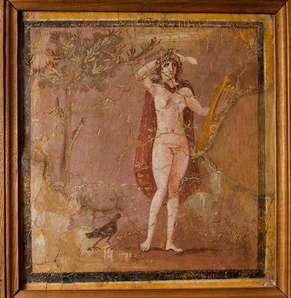 Frammento di affresco con ermafrodito, II secolo d.C.