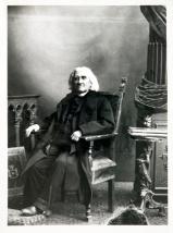 Ritratto del musicista Franz Liszt seduto in poltrona, Gelatina bromuro d'argento, 1853