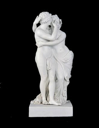 Amore e Psiche, manifattura Meissen, nella Pinacoteca dei Musei Capitolini