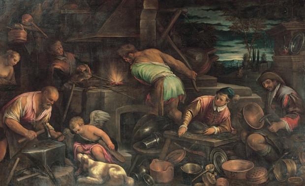 Leandro Bassano e collaboratore, olio su tela, ultimo quarto XVI secolo; Musei Capitolini, Pinacoteca; Collezione Pio di Savoia