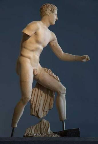 Decorazione frontonale: statua di Teseo, 450-425 a.C., Centrale Montemartini