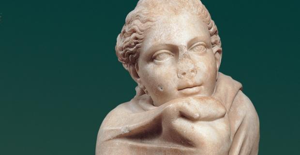 Statua di Musa: Polimnia, Da originale di età ellenistica, Centrale Montemartini